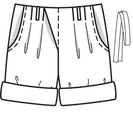У верхнего края шорт заложены складки, чтобы в... Журнал. Коллекция. Burda 11/2012. Детский
