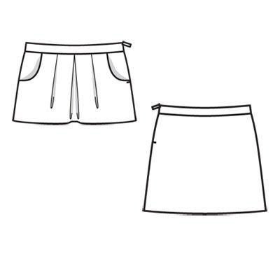 Выкройка юбки рост 110