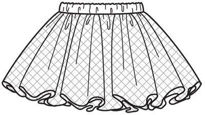 Выкройки детской юбки фото
