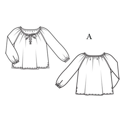 Как построить выкройку платья с рукавом реглан фото 23
