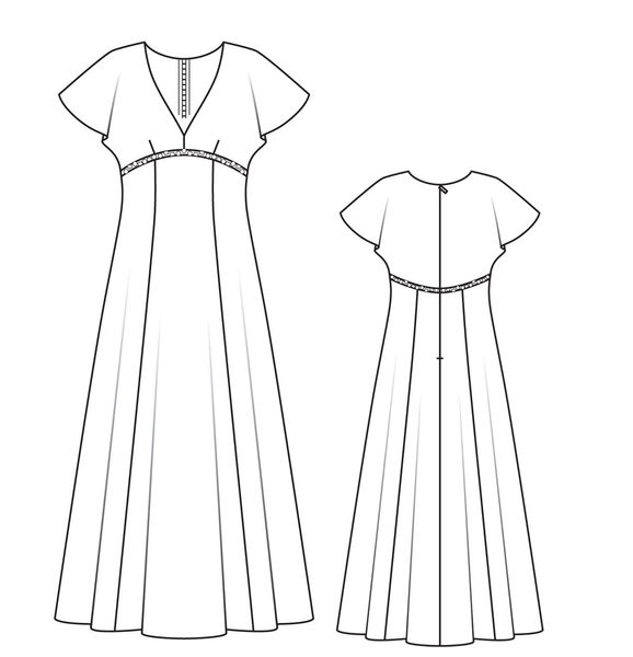 Выкройки платья из штапеля для полных женщин