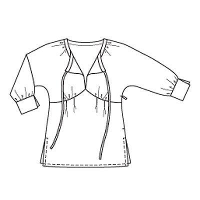 Описание: b burda STYLE Коллекция весна-лета 2014 Выкройка Burda (Бурда) 6936 - Туника, Платье Размер Германия