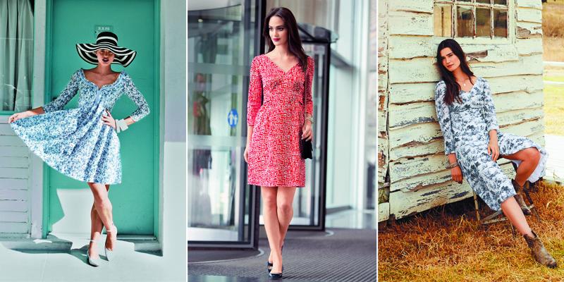 Модели платья в цветочек