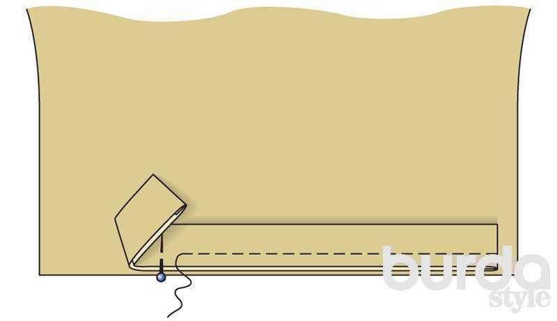 Выкройка планки-застежки