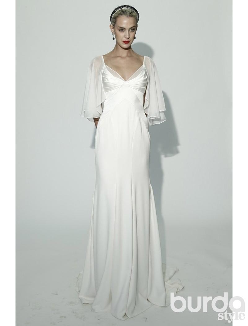 Выкройки свадебных платьев из бурды