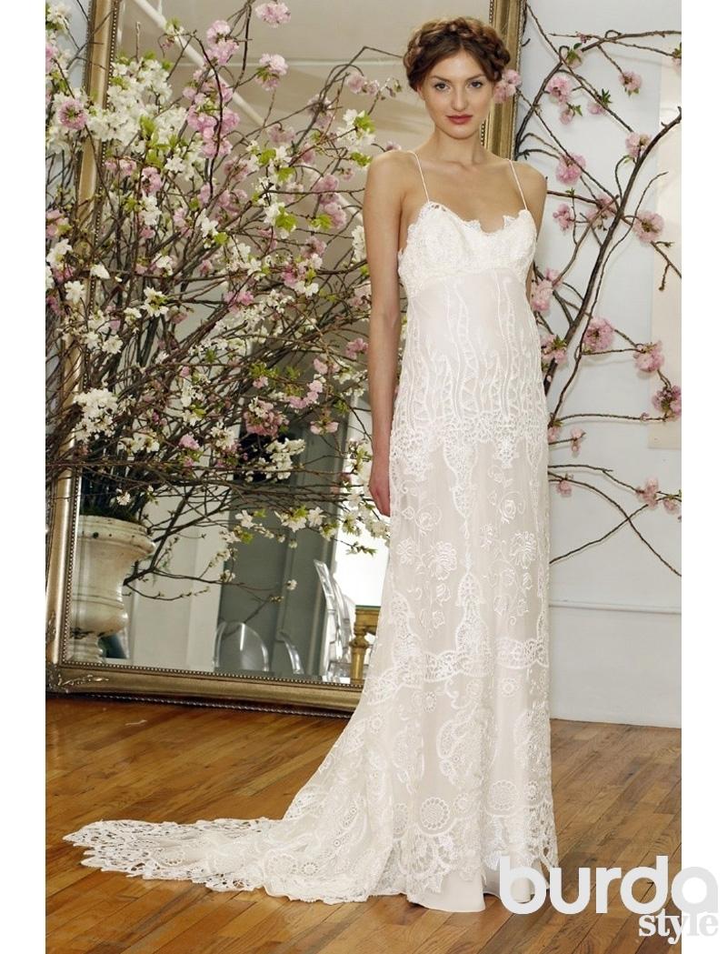 Выкройка простых свадебных платьев