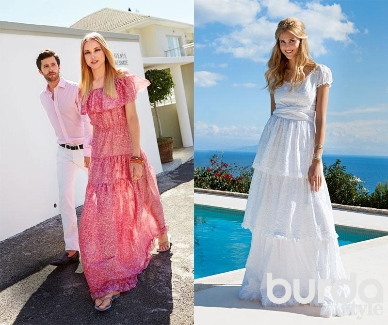 Модные длинные летние платья фото