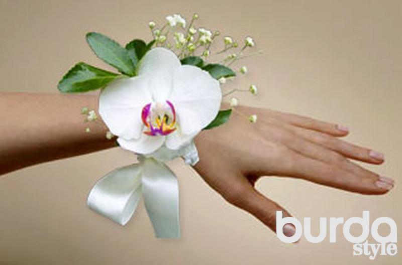 Браслет ленты цветы своими руками