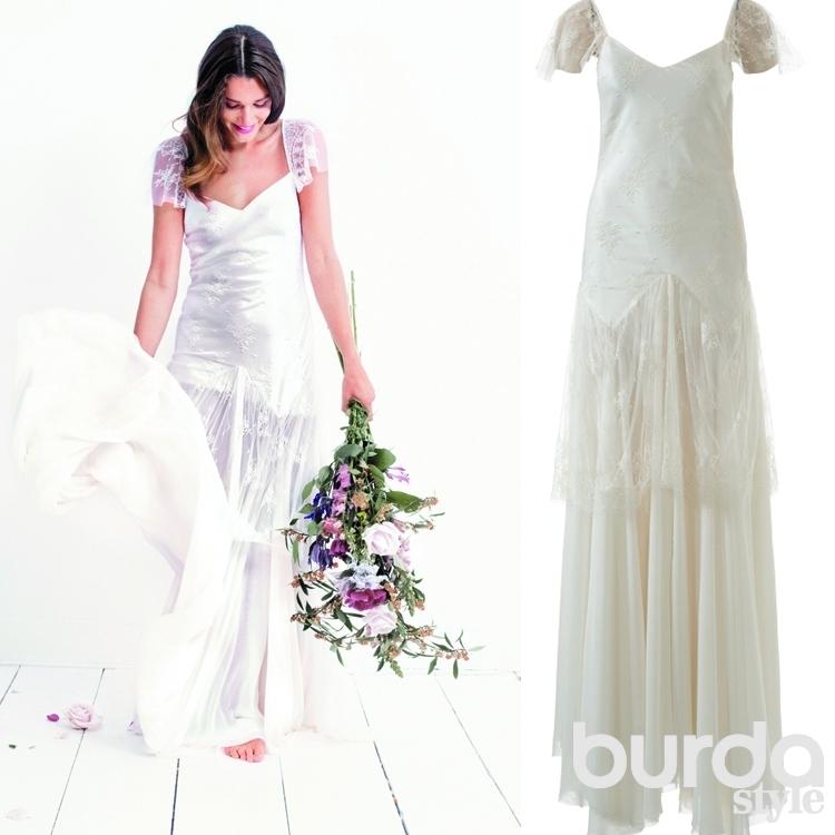 Выкройка платья с кружевными рукавами