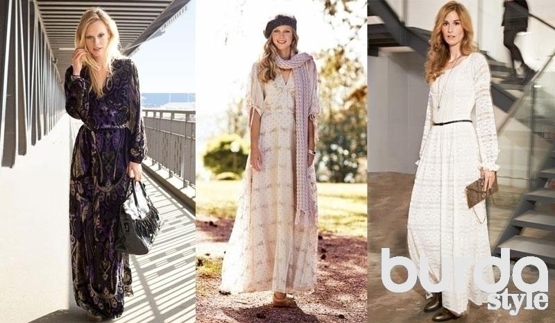 Фото модных летних платьев с длинным рукавом