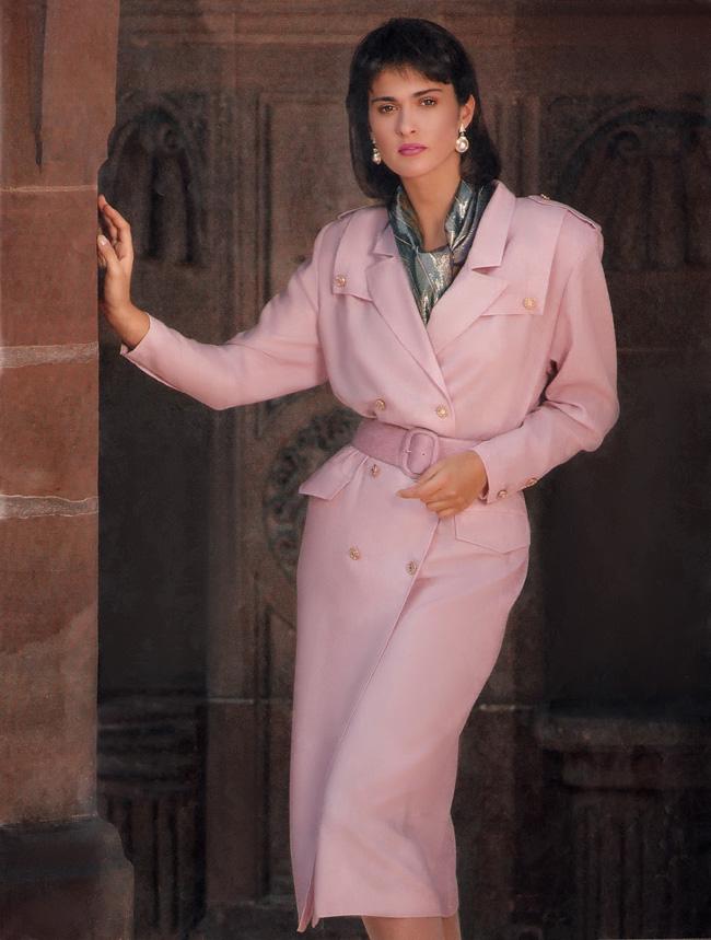 Юбилейный проект Burda. Платье-пальто из журнала Burda 1/1987