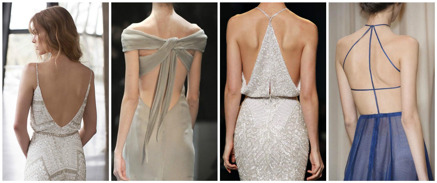 Платье сзади лямка