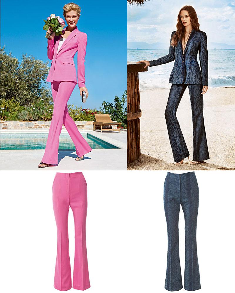 брюки с легким клешем из шелкового микса Alexander McQueen