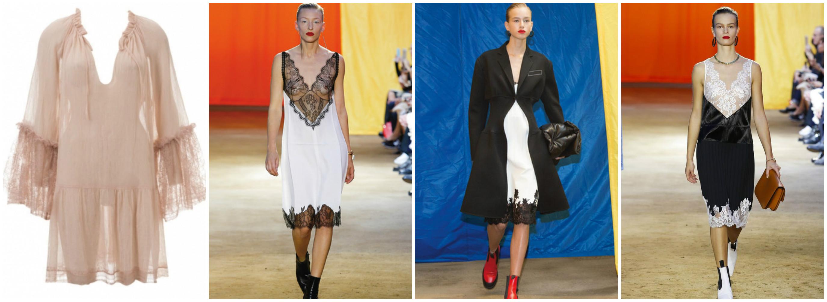Платье халат с подиумов