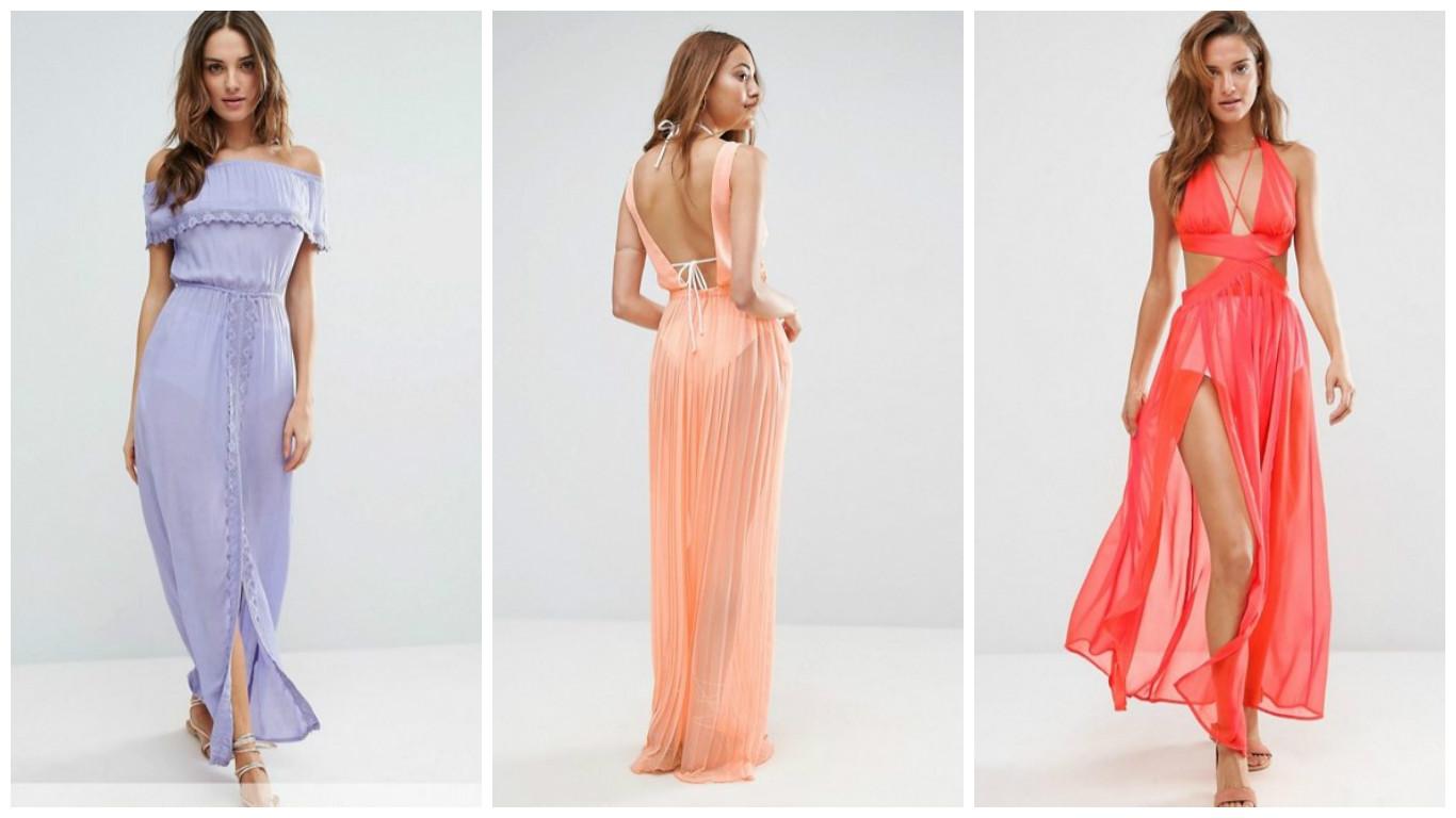 Пляжное платье из резинок для