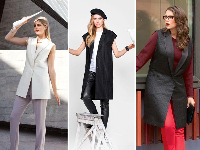 Модные жилеты с юбками