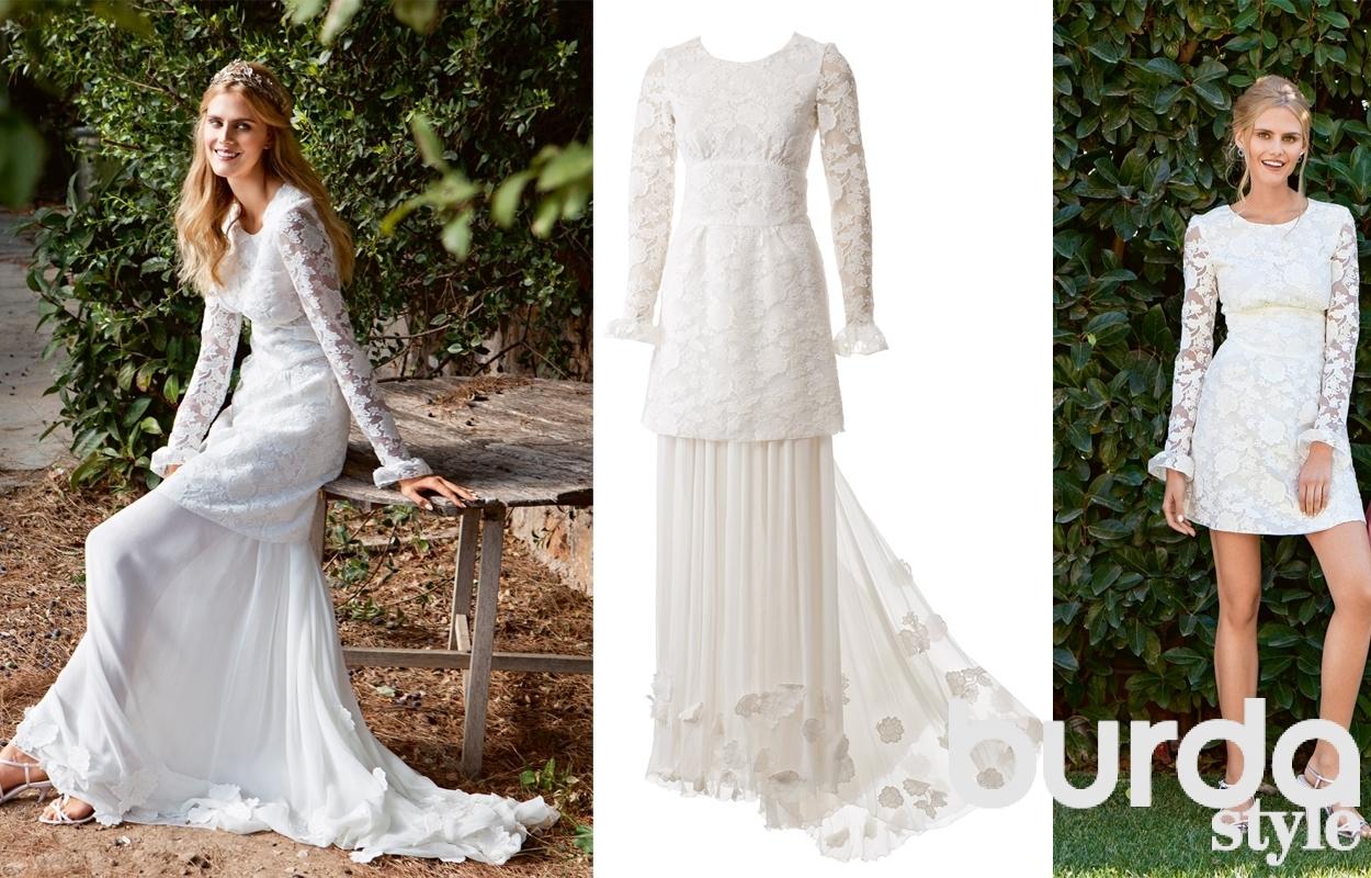 Как сшить платье в свадебном стиле 277