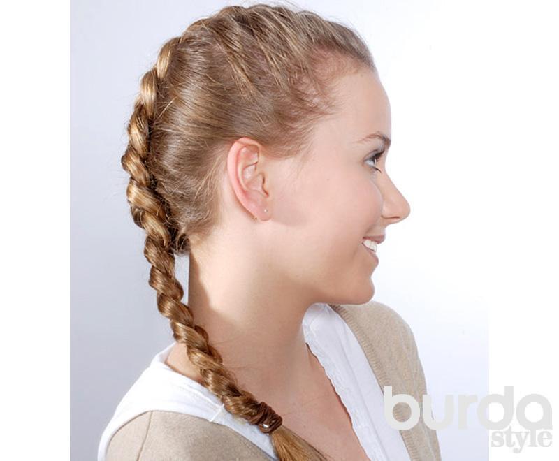 Модные косички для длинных волос / Красота и здоровье / Burdastyle