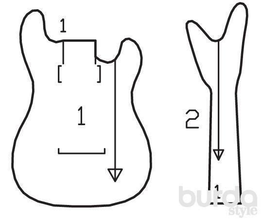Выкройка для чехла от гитары