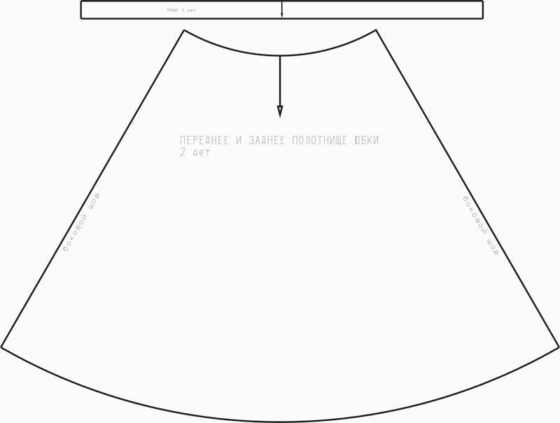 Выкройки летящей юбки