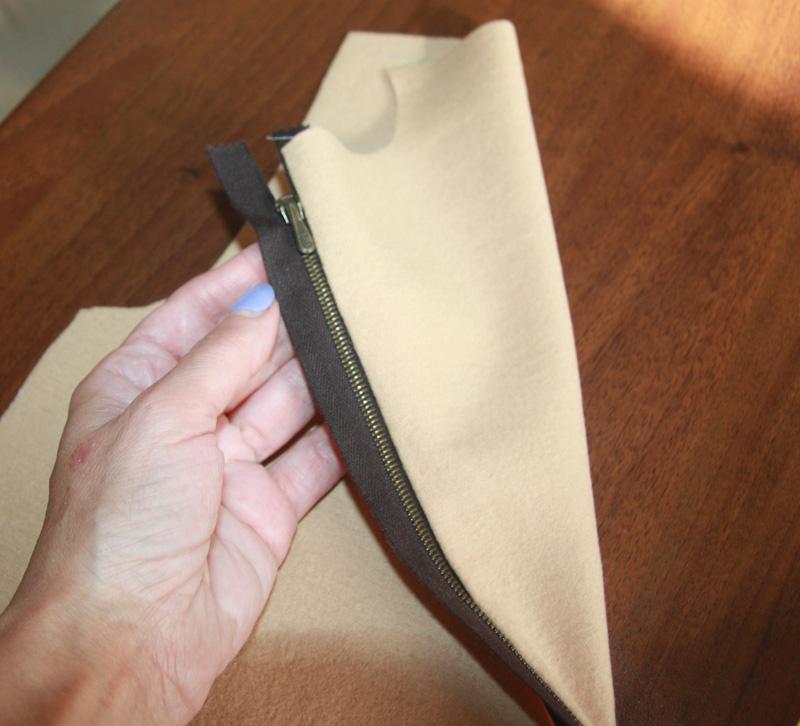 Как выполнить молнию в складке с обтачкой