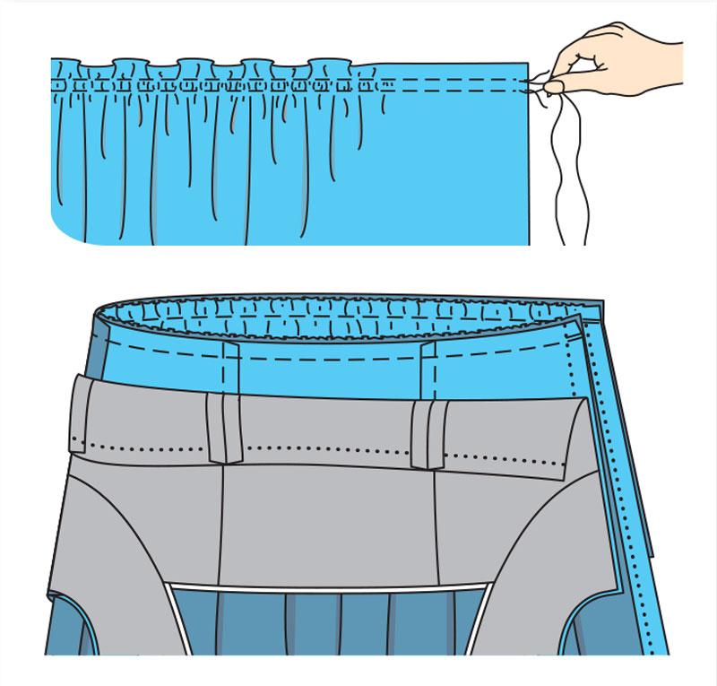 Как сшить юбку на талии 286