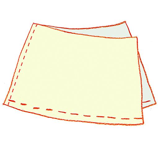 чертеж классической юбки