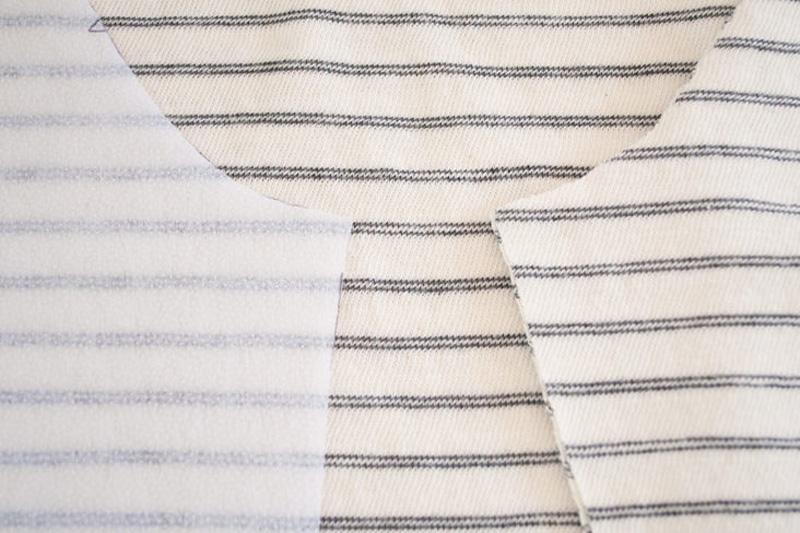 Ткань в полоску: как совместить рисунок