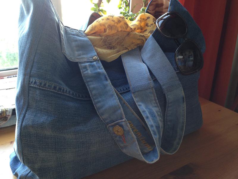 Сшить пляжную сумку из джинс своими руками  680