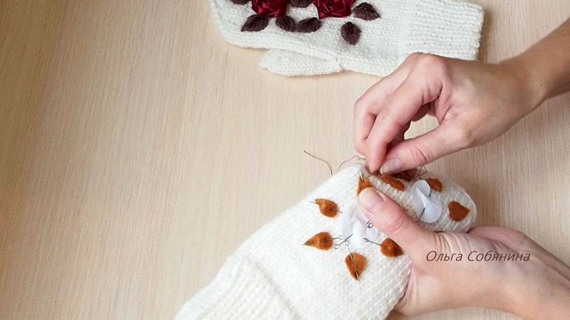 Вышивка на варежках своими руками мастер класс 13