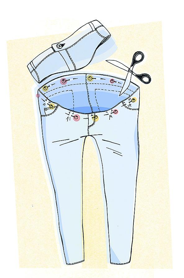 Шьём джинсы для беременных 3