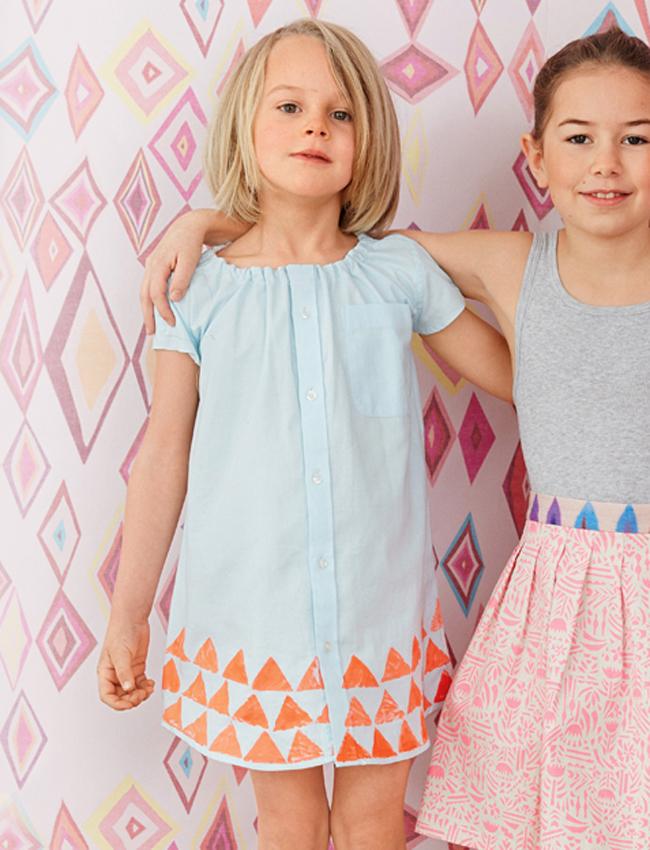 af8a39e1c55 Детское платье из рубашки своими руками — Мастер-классы на BurdaStyle.ru
