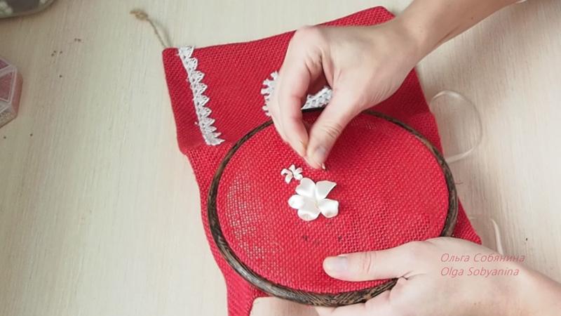 Подарочный новогодний мешочек из льна своими руками 99