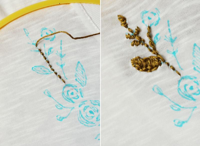 Вышивка нафутболке своими руками