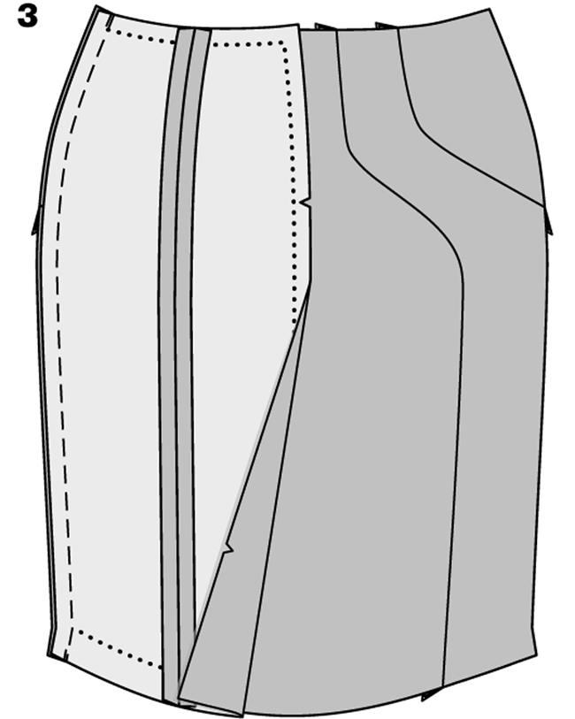 Юбка карандаш с высокой талией сшить