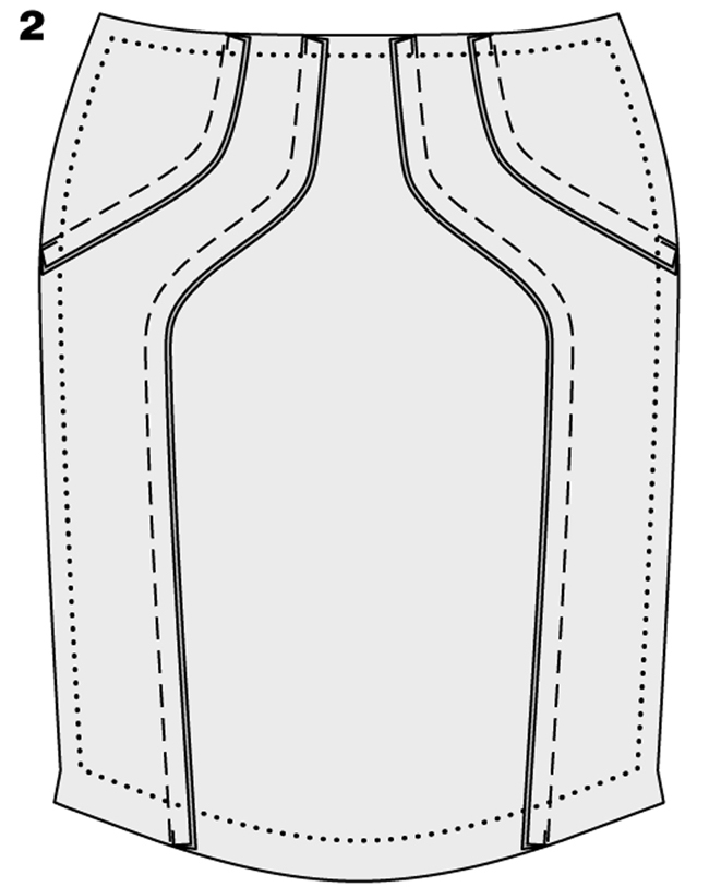 Как сшить юбку-карандаш сзавышенной талией