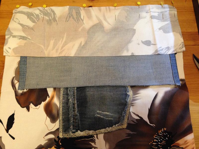 Пляжный коврик сшить из старых джинсов 73