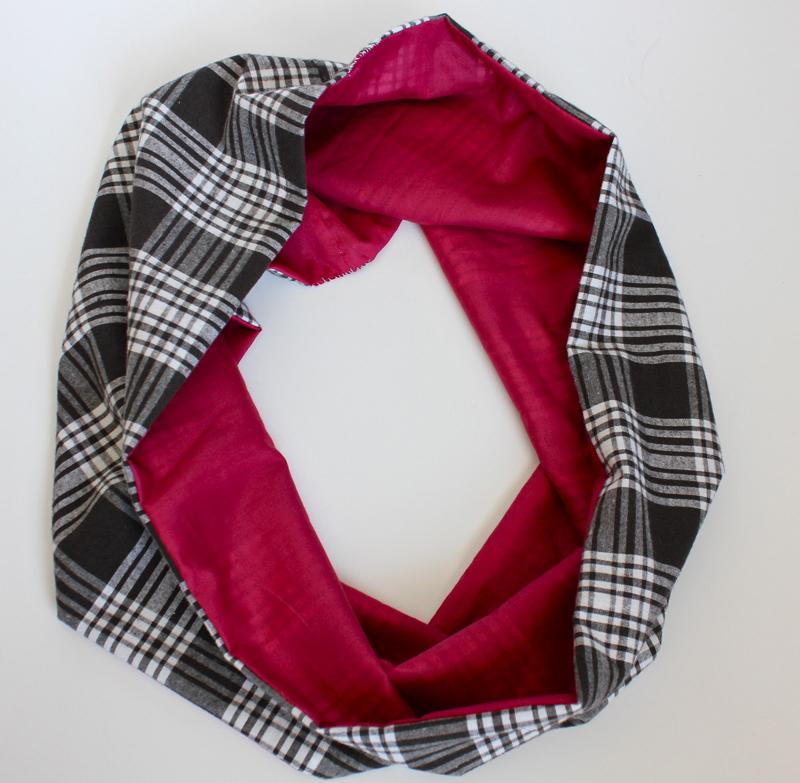 Как сшить снуд из кружева и шёлка