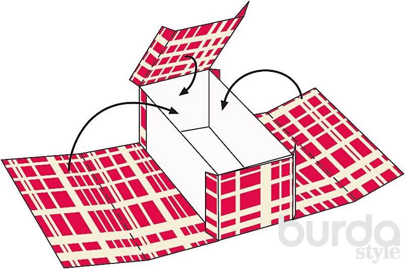 Картонные коробки для интерьера своими руками