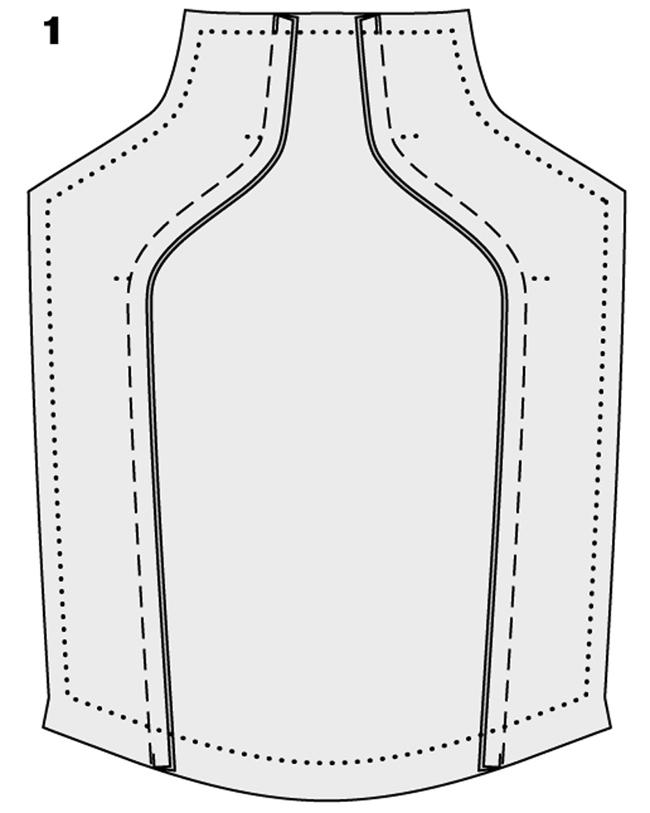 Как раскроить юбку с завышенной талией