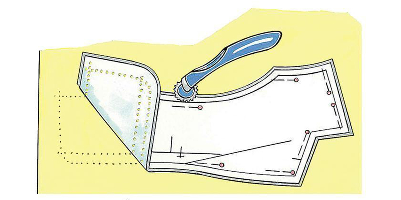 Как выкройку платья перенести на ткань