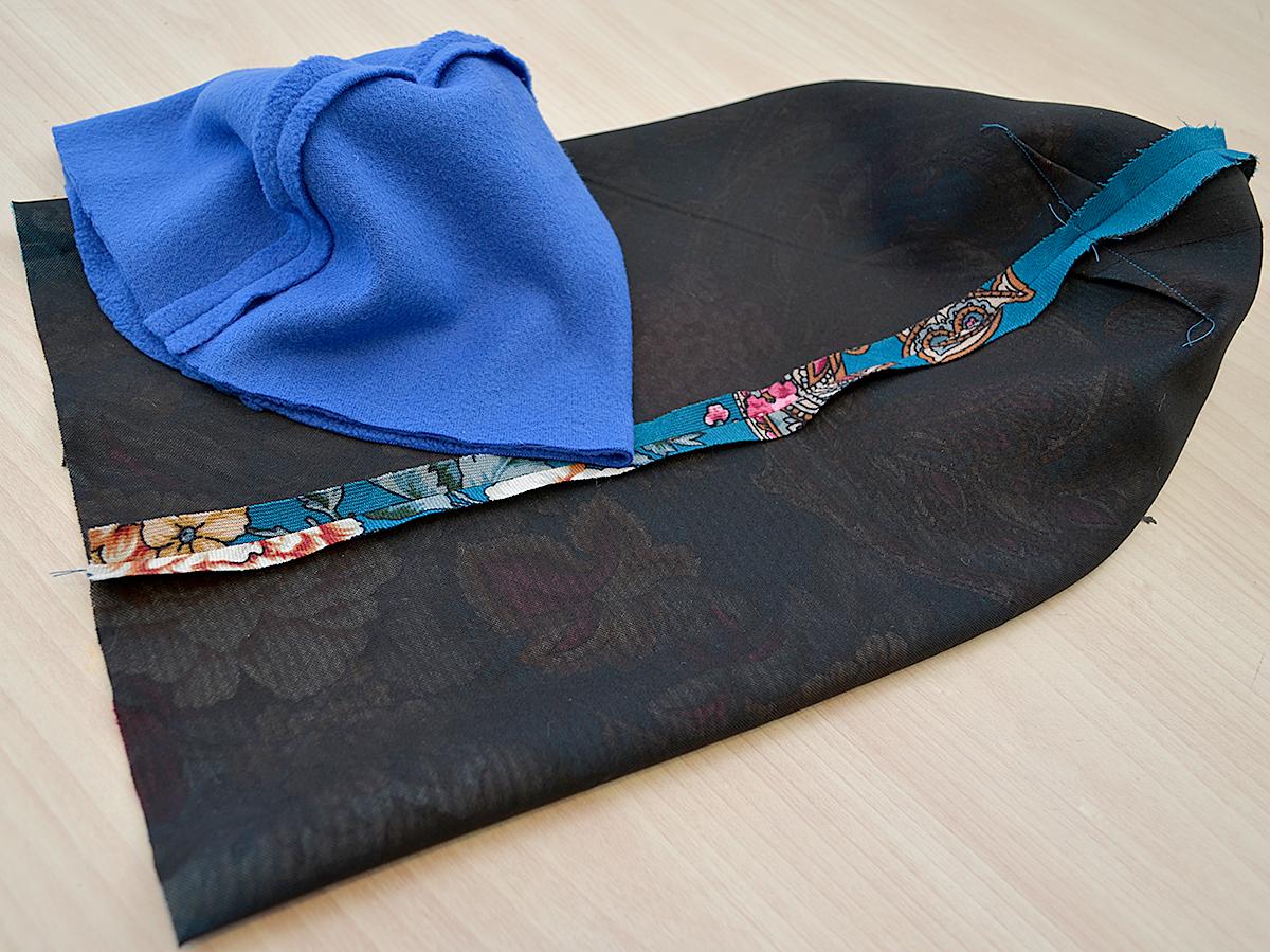 Шьем шапку и палантин из павловопосадского платка