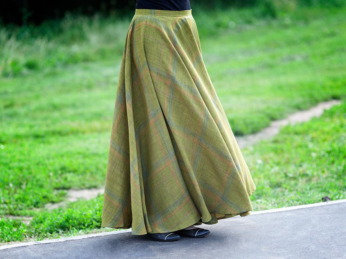 Шитье юбка солнце-клеш мастер класс пошагово #3