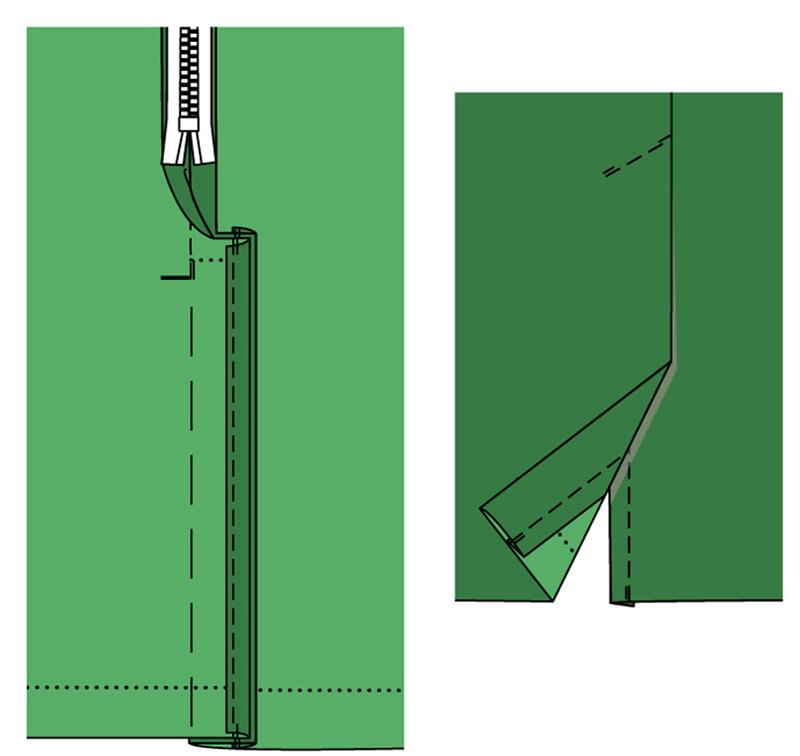 Как сделать шлицу сбоку