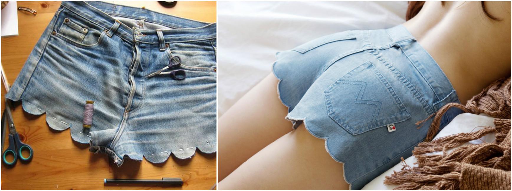 旧牛仔裤还能干什么?86:用6种方法来更新夏季短裤 - maomao - 我随心动