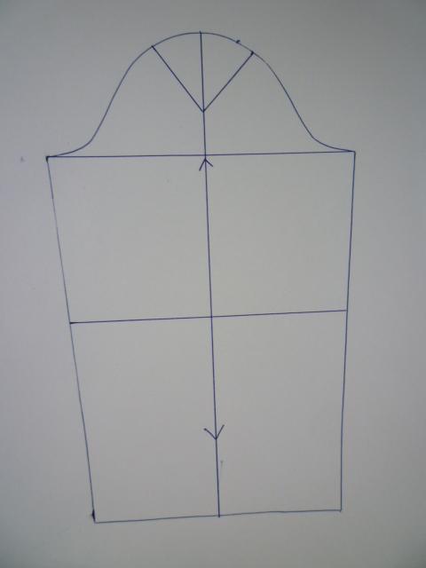 Моделируем рукав сдрапировкой ивырезом наплече