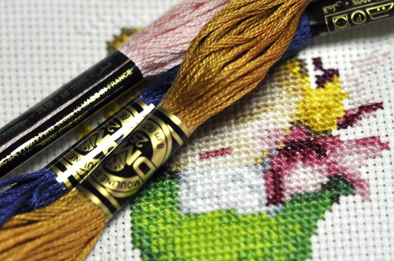 Как закрепить узелки при вышивке
