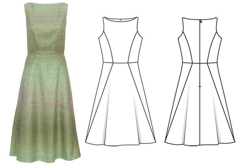 Обработка лифа платья подкладкой