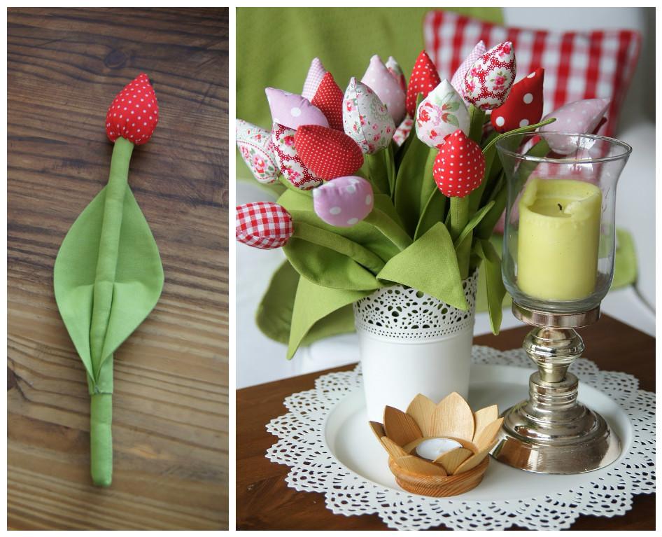 Как из ткани сшить тюльпаны 74