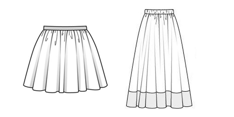 Как сшить юбку картинки
